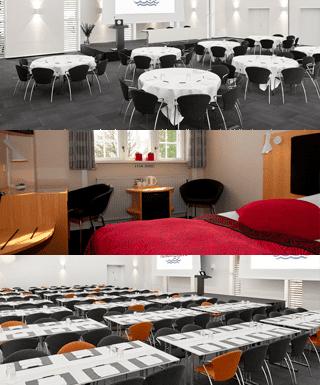 Her ses 3 billeder af faciliteter Koldingfjord hotel tilbyder