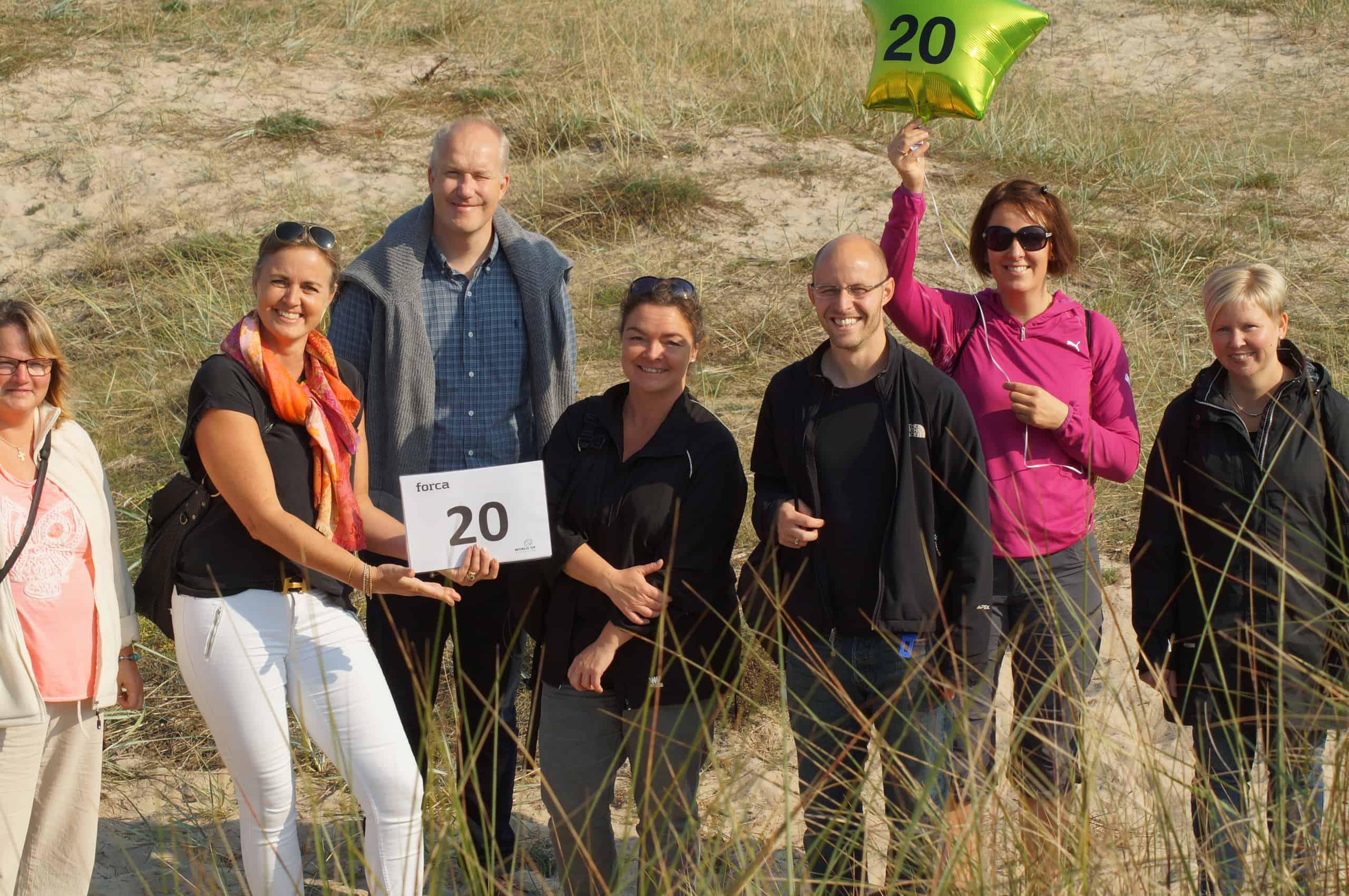 Her ses hold 20 på by safari i Helsingør