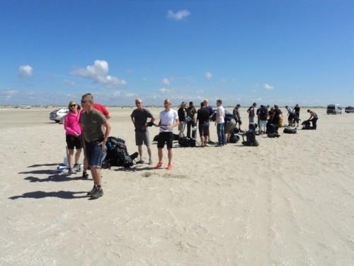 På billedet ses deltager i færd med at krydse øen