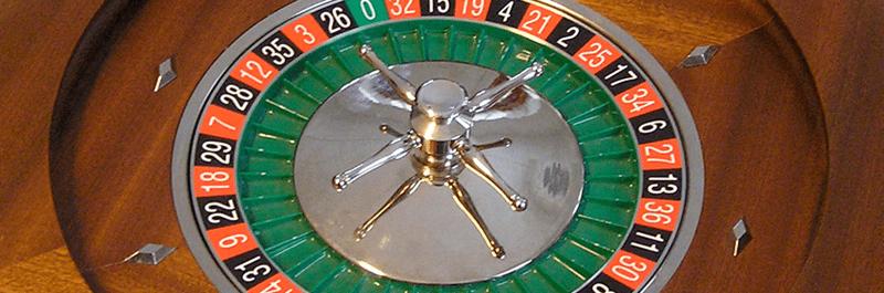 Et billede at en roulette i fuld gang med at spinne