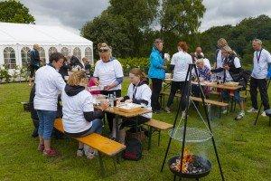 Dette er et billede fra et madlavnings teambuilding arrangement i Århus