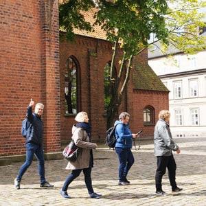 På billedet ses et hold fra vores teambuildings øvelse city adventure