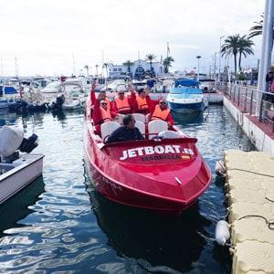 teambuilding med Jetboat i Spanien